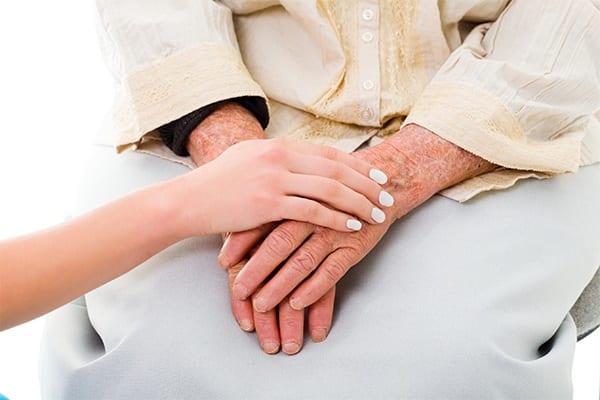 Senior woman hands at The Phoenix at Tucker in Tucker, Georgia