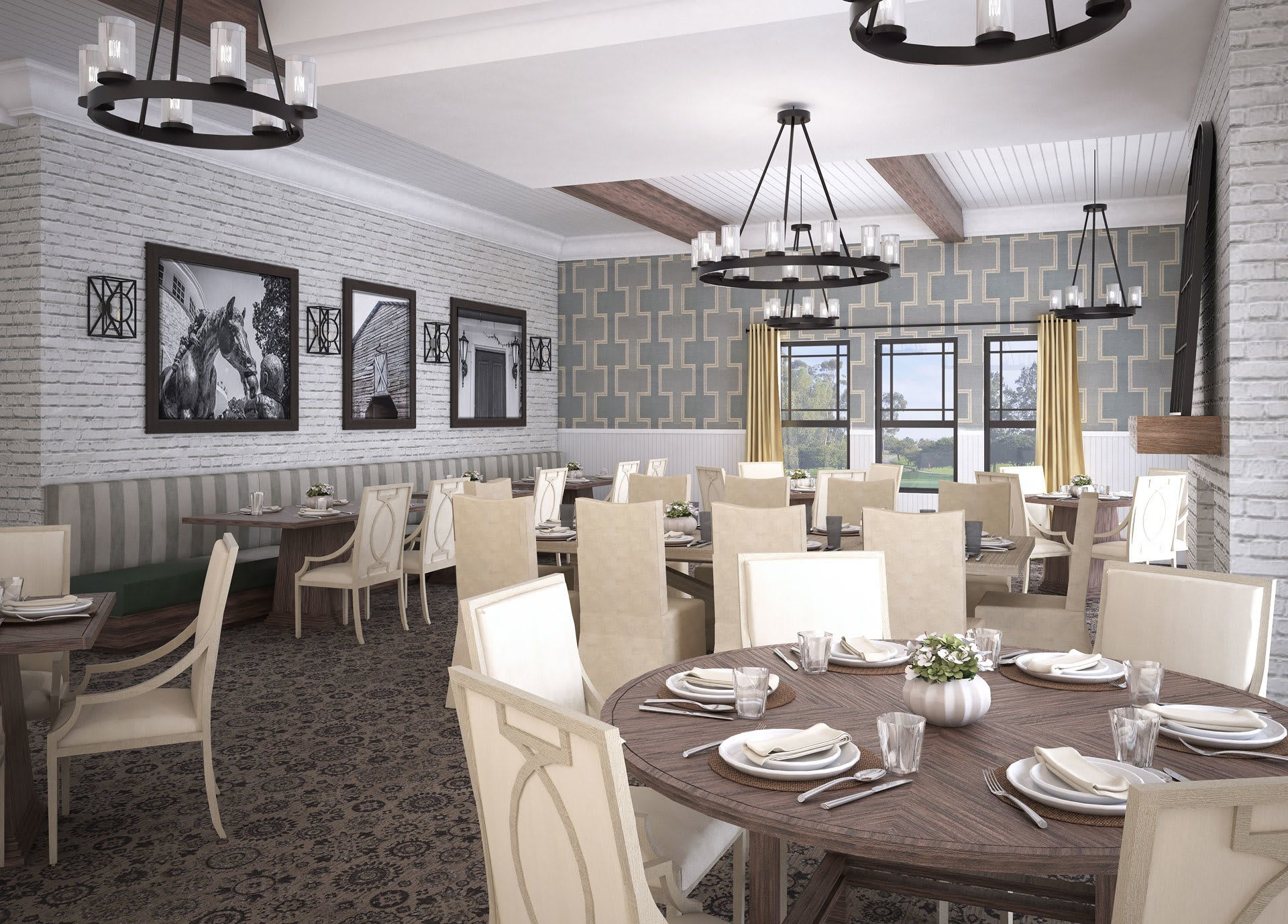 Dining Room Render The Phoenix at James Creek