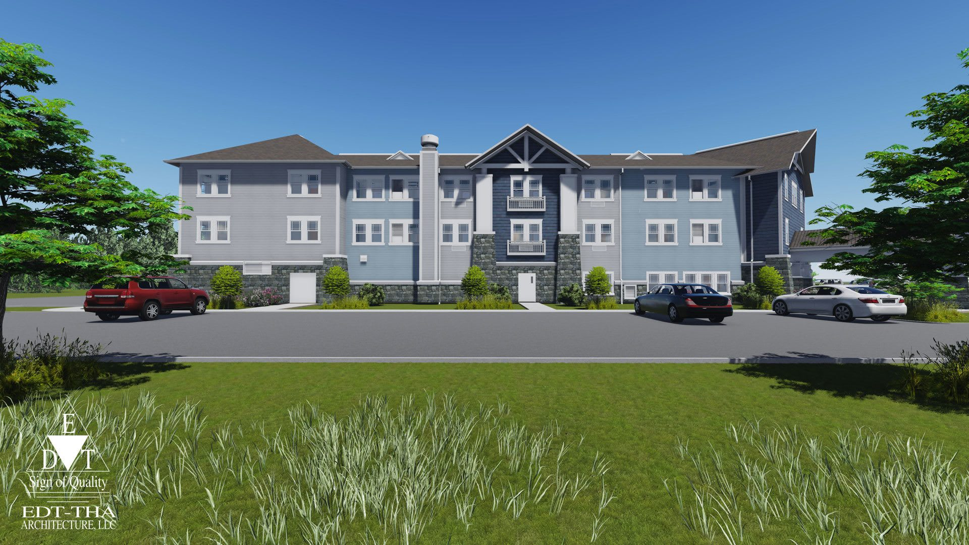 Exterior Rendering The Phoenix at James Creek