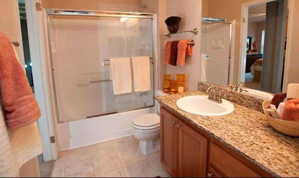 Bathroom At Our Apartments In Santa Clara