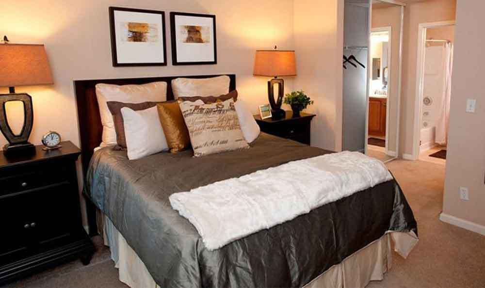 Bedroom At Our Apartments In Santa Clara