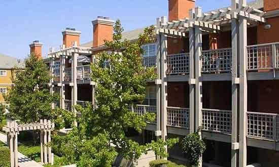 Private patios at our apartments in Santa Clara
