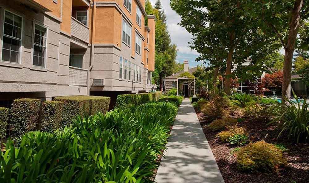 Walkways At Our Apartments In Santa Clara