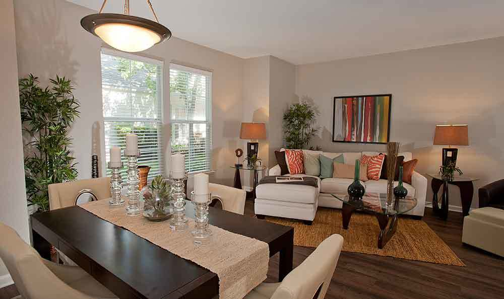Open floor plans at our apartments in Santa Clara