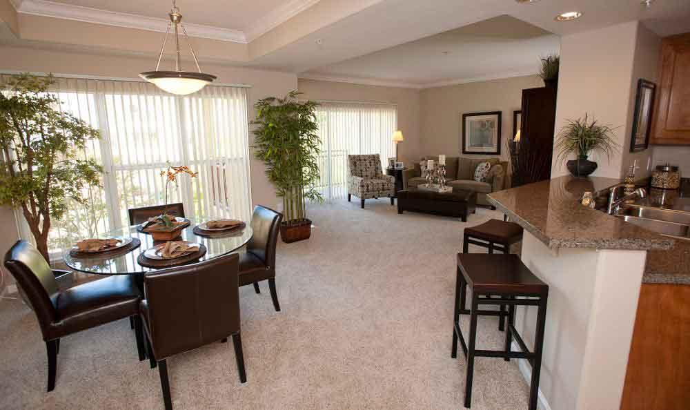 Dining & Living Room Combo At Apartments In Santa Clara