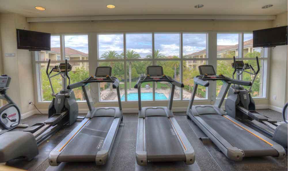 Fitness Center At Apartments In Santa Clara
