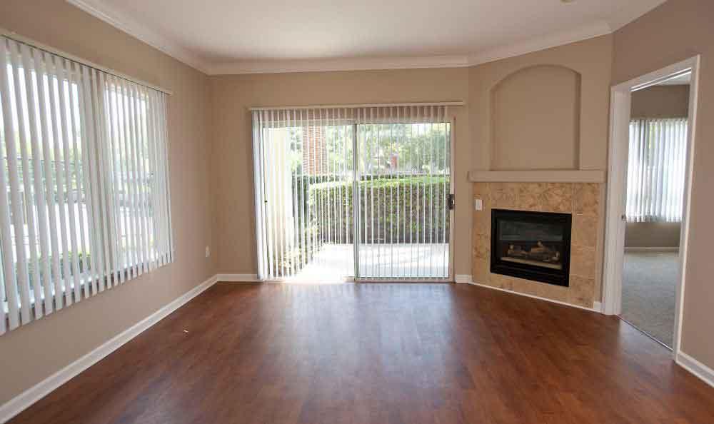 Spacious Living Room At Apartments In Santa Clara