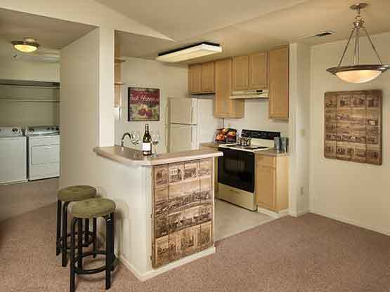 La Vina Apartments offers an open floor plan