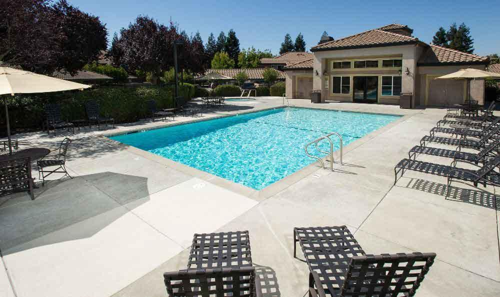 Swimming pool at apartments in Livermore, CA