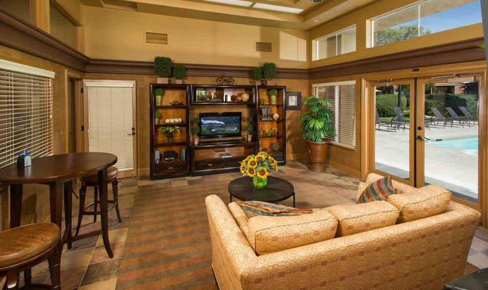 Well decorated living room at apartments in Livermore, CA