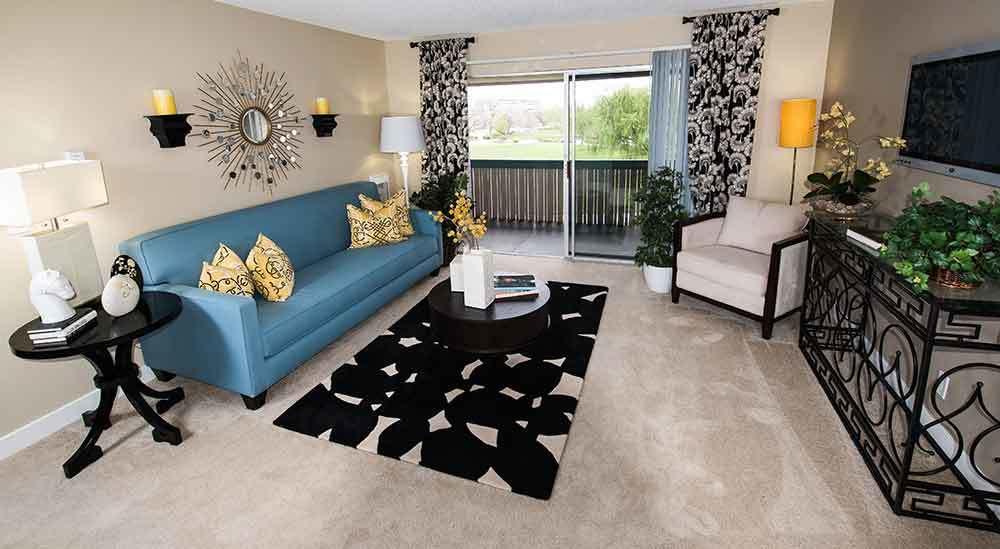 Living room at Harbor Cove Apartments
