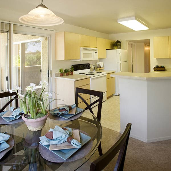 Dining Room And Kitchen at Village at Lindsay Park