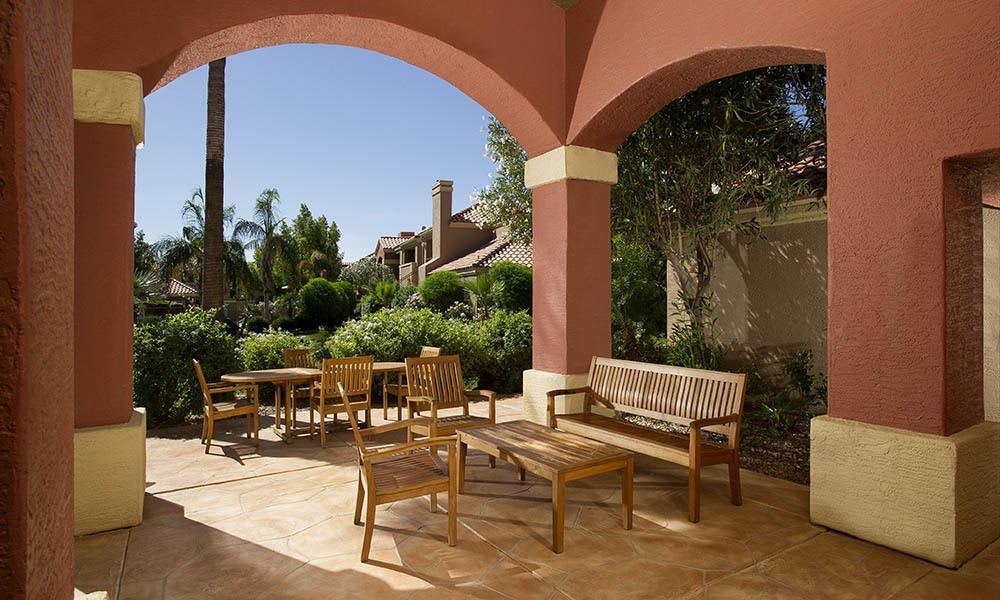 Outdoor Seating Area at Village at Lindsay Park in Mesa, AZ
