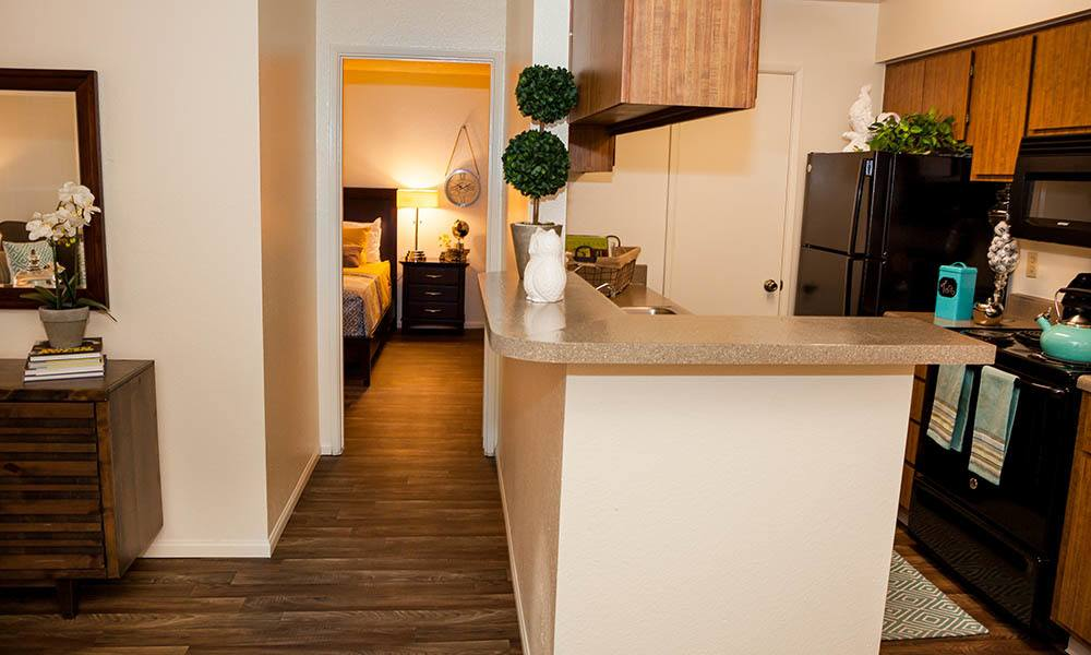 Hallway And Kitchen at Willow Creek Apartments in Tempe, AZ