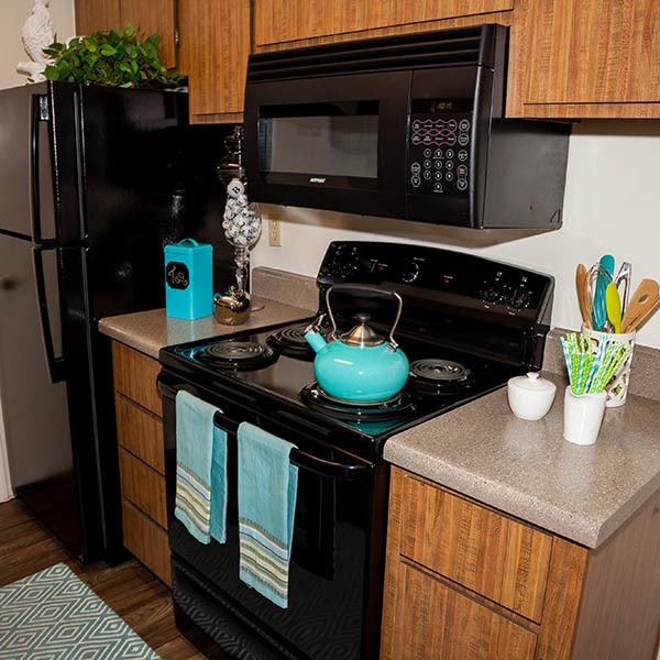 Kitchen at Willow Creek Apartments