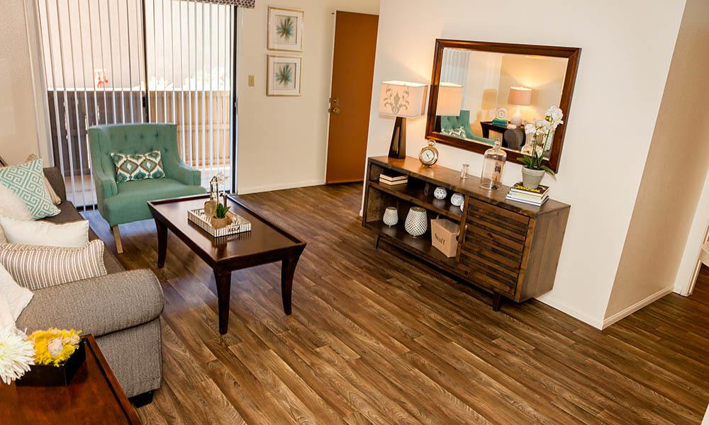 Large Living Space at Willow Creek Apartments in Tempe, AZ