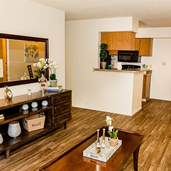 Living Room at Willow Creek Apartments