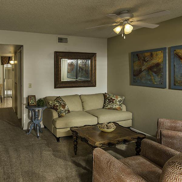 Living Room at Chandler Court Apartments