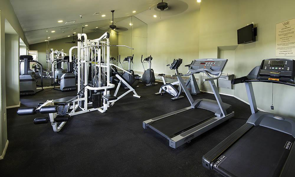 Well Equipped Fitness Center at Chandler Court Apartments in Chandler, AZ