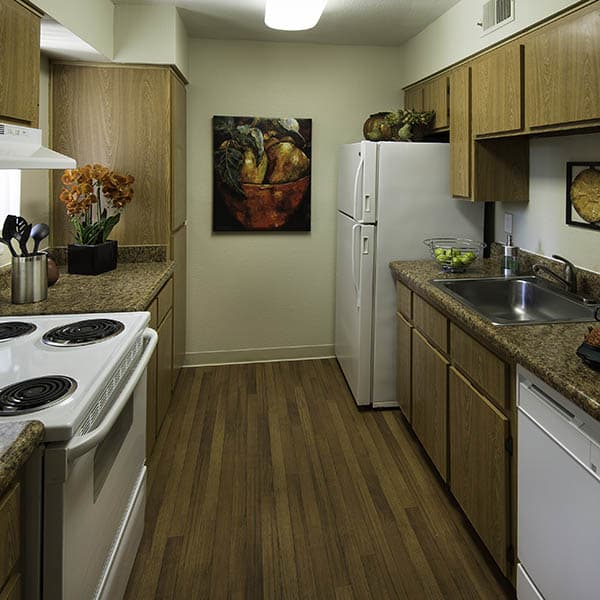 Kitchen at River Ranch Apartments