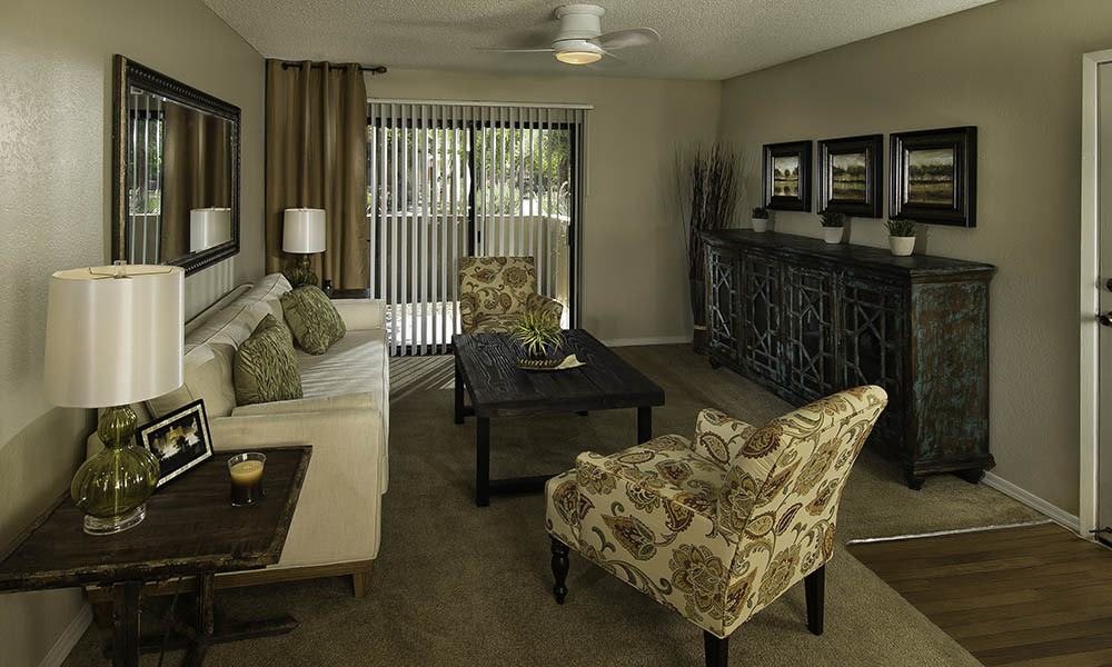 Large Living Room at River Ranch Apartments in Chandler, AZ