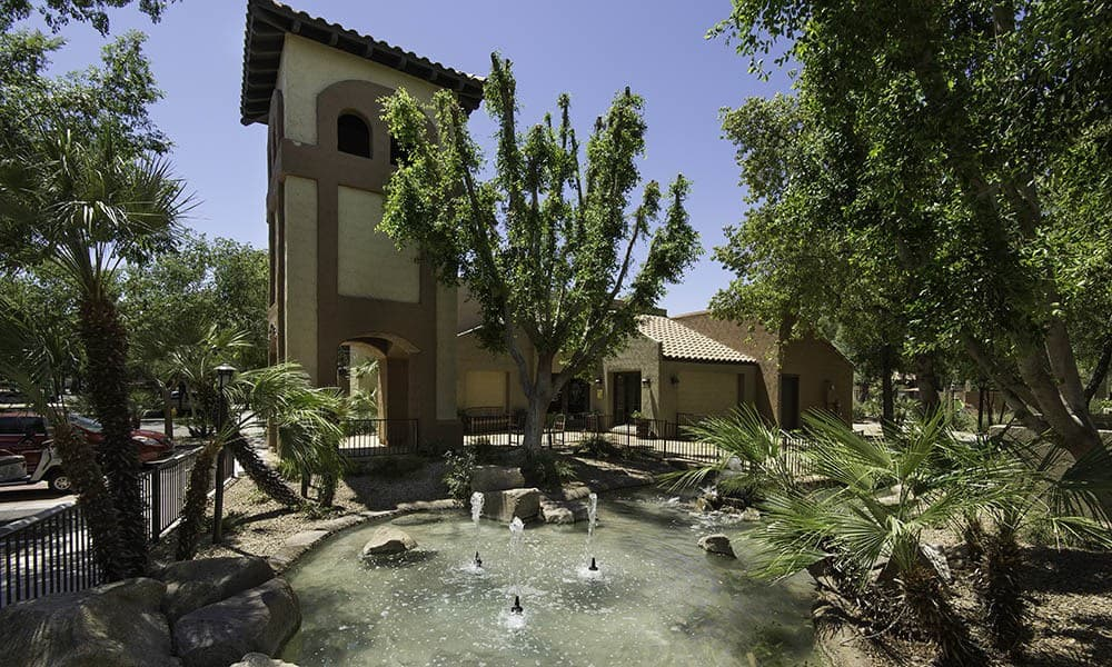 Water Feature at River Ranch Apartments in Chandler, AZ