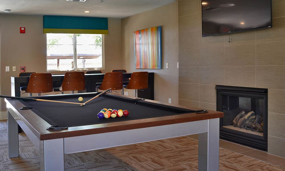 Pool Table In Clubhouse at 2150 Arizona Ave South in Chandler, AZ