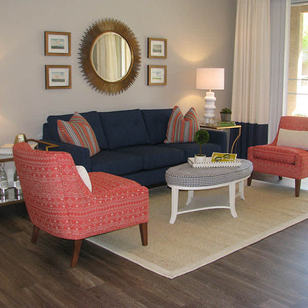 Bright Living Room at Ocotillo Bay Apartments