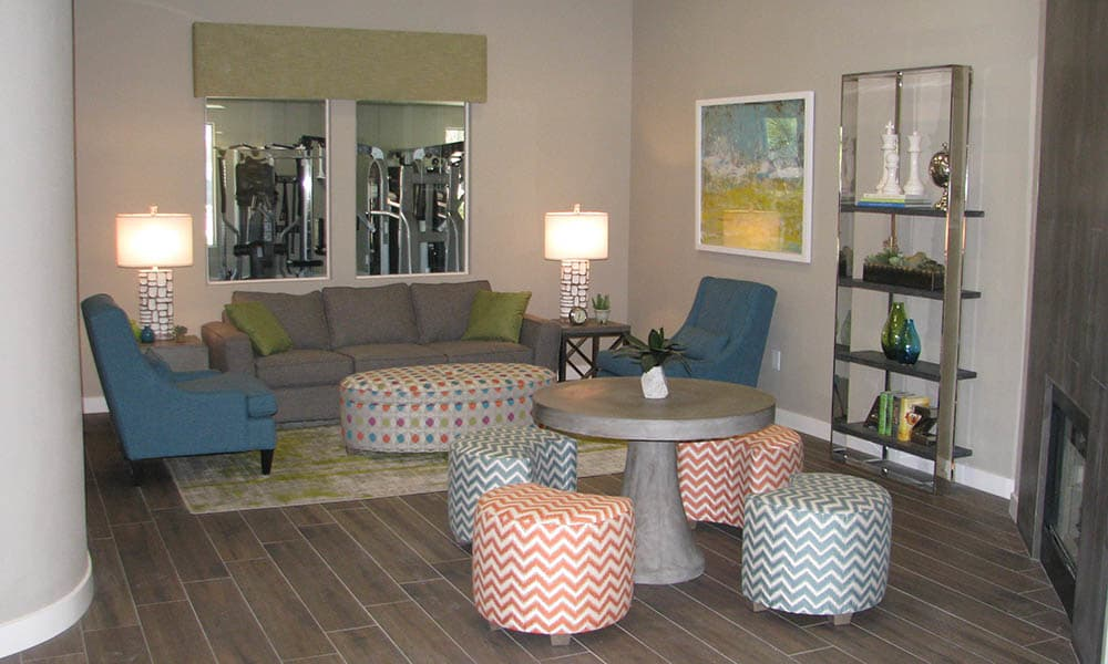 Modern Styling In The Clubhouse at Ocotillo Bay Apartments in Chandler, AZ