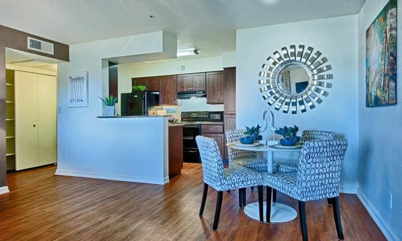 Dining And Kitchen Area at Cabrillo Apartments in Scottsdale, AZ