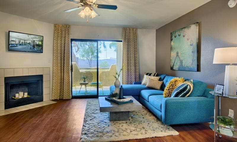 Modern Living Room at Cabrillo Apartments in Scottsdale, AZ