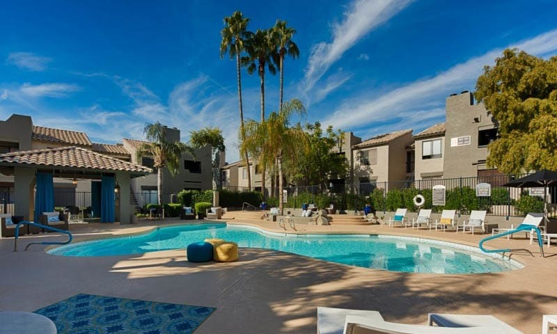 Resort Style Pool at Cabrillo Apartments in Scottsdale, AZ