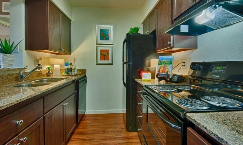 Well Equipped Kitchen at Cabrillo Apartments in Scottsdale, AZ