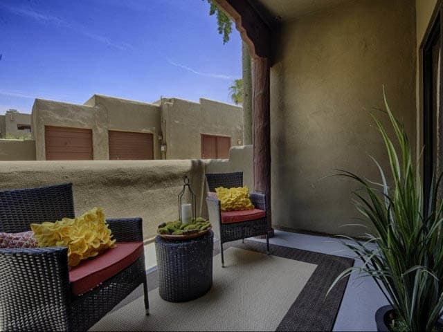 Balcony at lCasa Santa Fe Apartments in Scottsdale, AZ