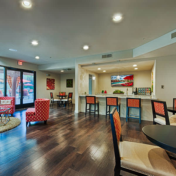 Clubhouse Interior at Casa Santa Fe Apartments