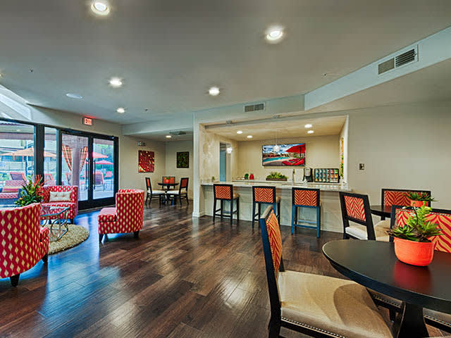 Clubhouse Interior at lCasa Santa Fe Apartments in Scottsdale, AZ