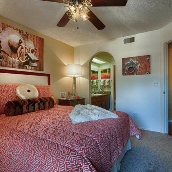 Master Bedroom at Casa Santa Fe Apartments