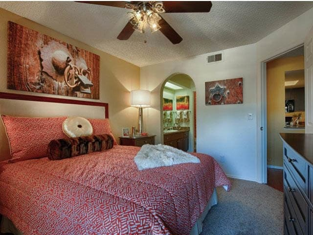 Master Bedroom at lCasa Santa Fe Apartments in Scottsdale, AZ