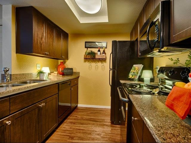 Stylish Kitchen at lCasa Santa Fe Apartments in Scottsdale, AZ