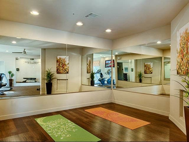 Yoga Studio at lCasa Santa Fe Apartments in Scottsdale, AZ