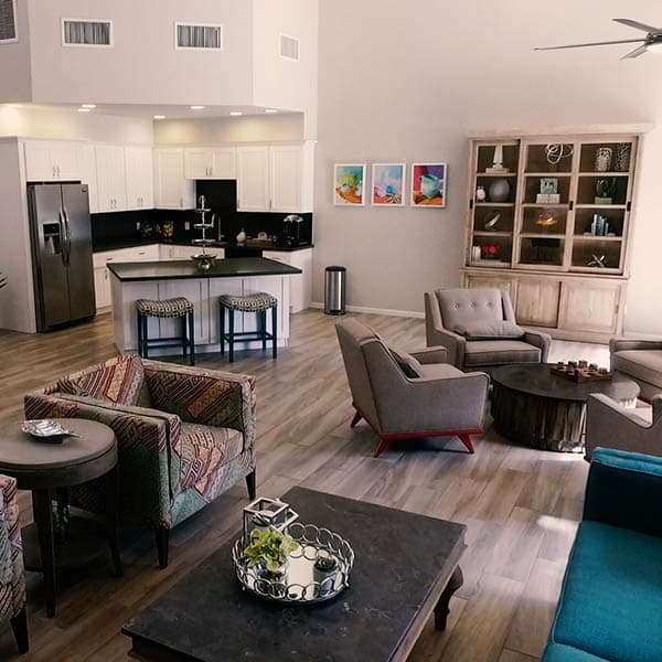Clubhouse Interior at Waterford Place Apartments