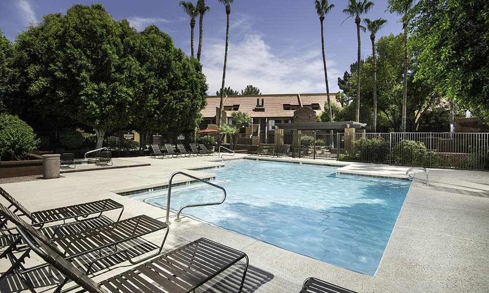Resort Style Pool at Waterford Place Apartments in Mesa, AZ
