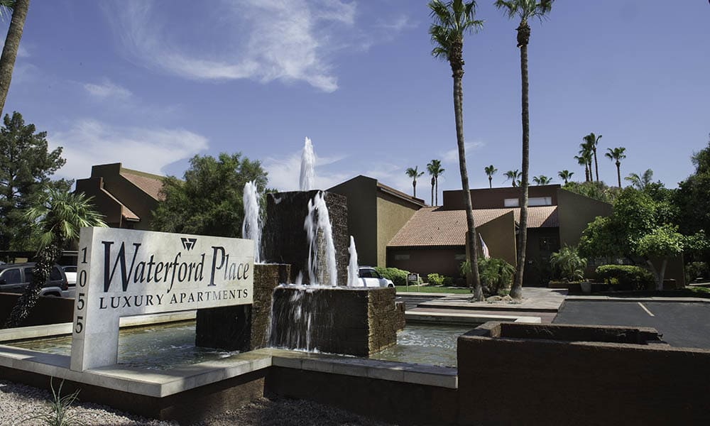 Signage at Waterford Place Apartments in Mesa, AZ