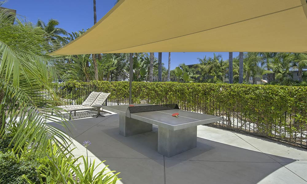 Outdoor Ping Ping Table at UCA Apartment Homes in Fullerton, CA