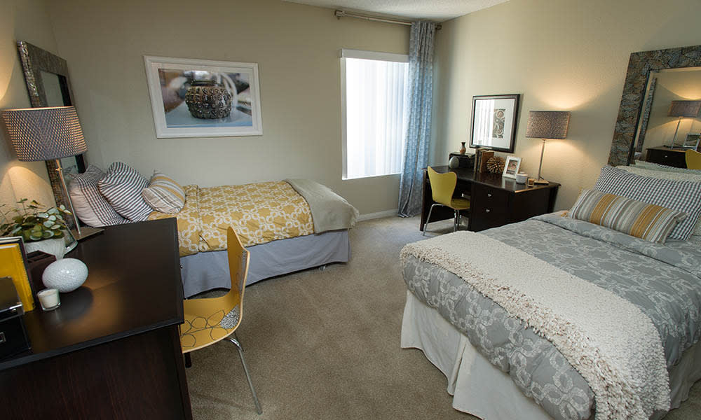 Shared Bedroom at UCA Apartment Homes in Fullerton, CA