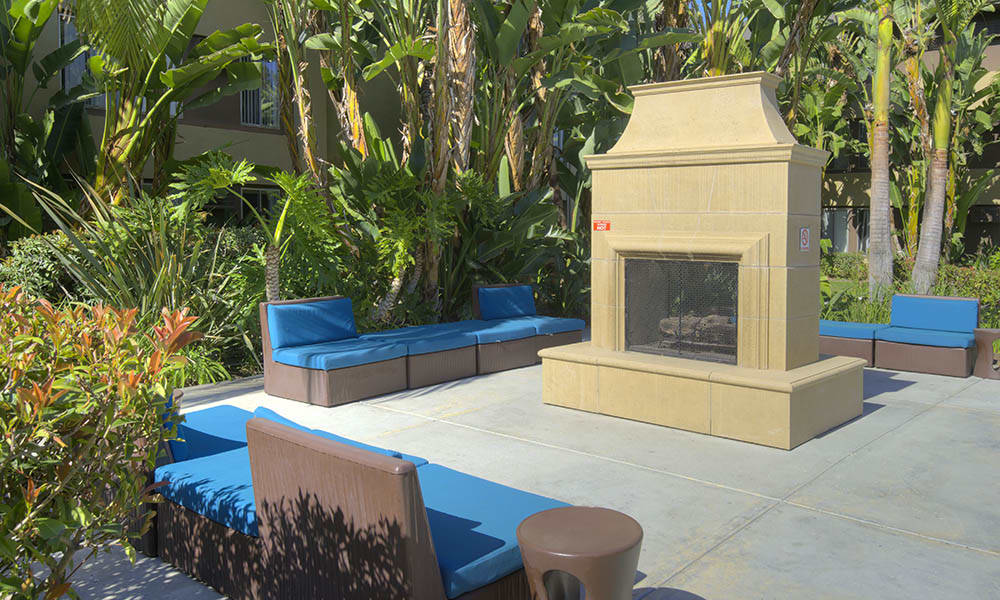 Fire Pit at UCE Apartment Homes in Fullerton, CA