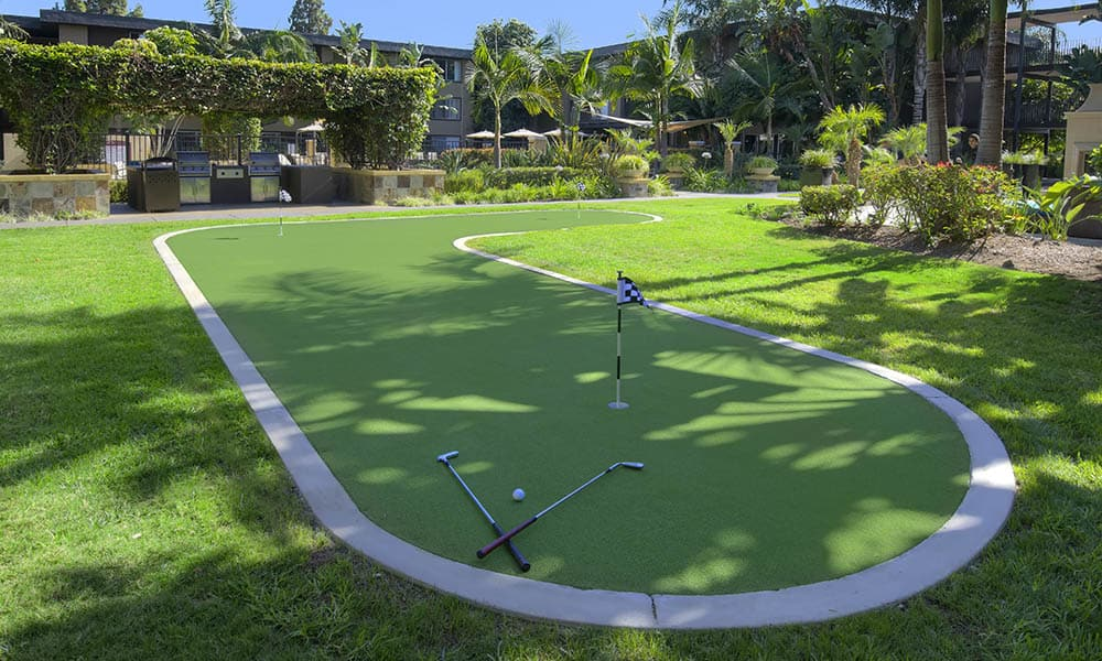 Mini Golf Course at UCE Apartment Homes in Fullerton, CA
