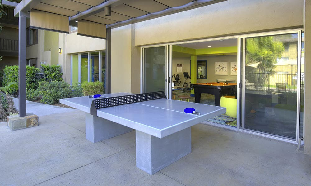Outdoor Ping Pong Table at UCE Apartment Homes in Fullerton, CA
