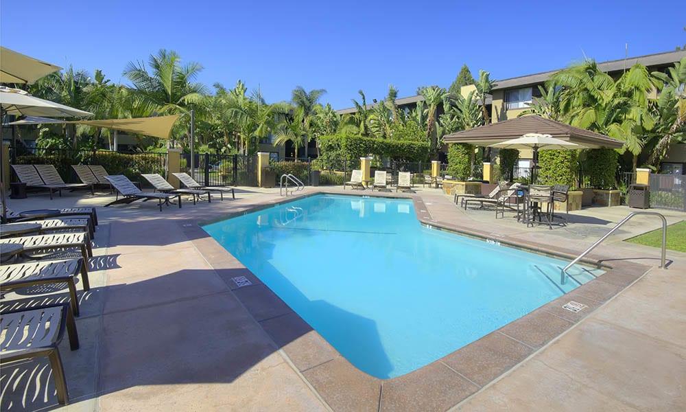 Resort Style Swimming Pool at UCE Apartment Homes in Fullerton, CA