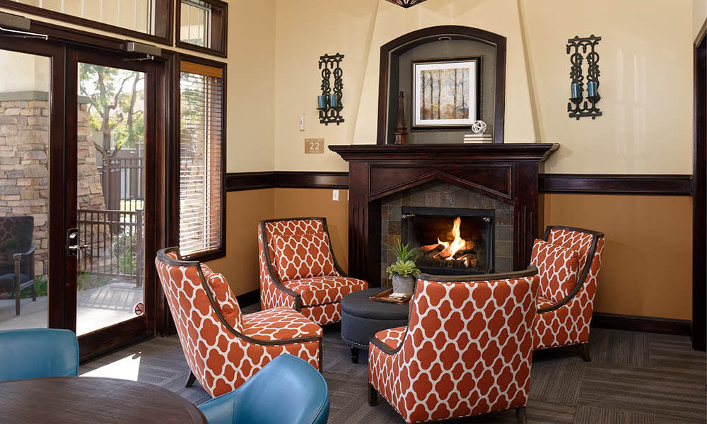 Gather 'Round The Fireplace at Camino Real in Rancho Cucamonga, CA